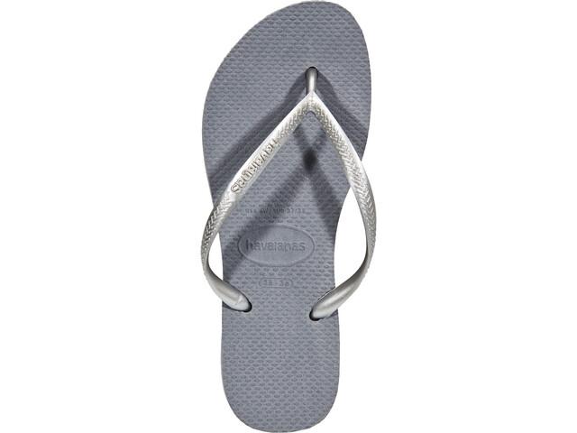 610d1729d17d havaianas Slim Flips Women steel grey